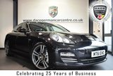 """USED 2011 61 PORSCHE PANAMERA 4.8 4S PDK 5DR 400 BHP full service history  FINISHED IN STUNNING BASALT METALLIC BLACK WITH FULL BLACK LEATHER INTERIOR + FULL SERVICE HISTORY + SATELLITE NAVIGATION + BLUETOOTH + 14-WAY POWER HEATED SEATS WITH MEMORY + BOSE SURROUND SOUND + BURR WALNUT INTERIOR PACKAGE + PRIVACY GLASS + CRUISE CONTROL + 20"""" 911 TURBO ALLOY WHEELS"""