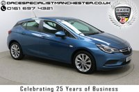 "USED 2016 16 VAUXHALL ASTRA 1.6 ENERGY CDTI 5d 108 BHP Finished in Stunning Solid Darkmoon Blue with Black Cloth Upholstery, 1 Owner, Vauxhall Service History, and 17"" Alloy Wheels. Upon opening the drivers side door you will be presented with Heated Seats, DAB Radio, Bluetooth, a Heated Steering Wheel with Multi Functions, Air Con, Cruise Control, Electric Windows/Mirrors and Daytime Running LED's"