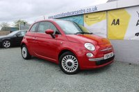 2014 FIAT 500 1.2 LOUNGE 3d 69 BHP PETROL RED £4990.00