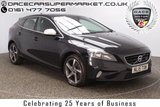 USED 2015 15 VOLVO V40 2.0 D4 R-DESIGN NAV 5DR SAT NAV HALF LEATHER 1 OWNER 187 BHP FULL SERVICE HISTORY + FREE 12 MONTHS ROAD TAX + HALF LEATHER SEATS + SATELLITE NAVIGATION + BLUETOOTH + CLIMATE CONTROL + MULTI FUNCTION WHEEL + DAB RADIO + ELECTRIC WINDOWS + RADIO/USB + ELECTRIC MIRRORS + 17 INCH ALLOY WHEELS