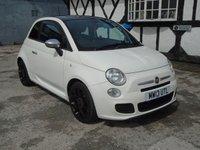 2013 FIAT 500 0.9 S TWINAIR 3d 85 BHP £4995.00