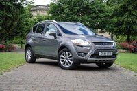 USED 2011 61 FORD KUGA 2.0 TITANIUM TDCI AWD 5d 163 BHP Black Leather Seats with Contrast Grey Cloth Centre Panels, Bluetooth Connectivity + DAB Radio, Front and Rear Park Distance Control, 17 Inch Alloy Wheels, Leather Multi Function Steering Wheel, Cruise Control, Automatic Headlights, Digital Dual Zone Climate Control, On-board Computer, Cruise Control, Towbar + Electrics, Quick Clear Front Windscreen, Privacy Glass, Aluminum Roof Rails