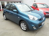 USED 2014 14 NISSAN MICRA 1.2 ACENTA 5d 79 BHP Retail price £5495,with £500 minimum part exchange allowance,balance price £4995.