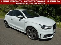 USED 2013 63 AUDI A1 2.0 TDI BLACK EDITION 3d 143 BHP All retail cars sold are fully prepared and include - Oil & filter service, 6 months warranty, minimum 6 months Mot, 12 months AA breakdown cover, HPI vehicle check assuring you that your new vehicle will have no registered accident claims reported, or any outstanding finance, Government VOSA Mot mileage check. Because we are an AA approved dealer, all our vehicles come with free AA breakdown cover and a free AA history check.. Low rate finance available. Up to 3 years warranty available.