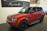 USED 2013 13 LAND ROVER RANGE ROVER SPORT 3.0 SDV6 HSE BLACK 5d AUTO 255 BHP STUNNING CAR IN RARE FIRENZE RED - NAV - TV - DUAL VIEW - R/CAMERA - PRIVACY GLASS - SIDE STEPS - POWERBOOT