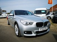 USED 2012 12 BMW 5 SERIES 3.0 530D M SPORT GRAN TURISMO 5d AUTO 242 BHP +530D+ PAN ROOF+ NAV+LEATHER+