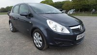 USED 2008 58 VAUXHALL CORSA 1.2 CLUB A/C 16V 5d 80 BHP AIR-CONDITIONING, CD-PLAYER, TRIP COMPUTER, REMOTE LOCKING, ELECTRC WINDOWS, AUX POINT, ECONOMICAL, IDEAL 1ST CAR, METALLIC PAINT,