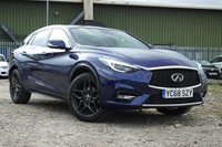"USED 2018 68 INFINITI Q30 1.5 LUXE D 5d AUTO 107 BHP STUNNING DARK INK BLUE METALLIC WITH GRAPHITE LEATHER UPHOLSTERY. VERY LOW MILEAGE. STILL UNDER INFINITI WARRANTY. CHEAPEST LIKE FOR LIKE ON AUTOTRADER. SATELLITE NAVIGATION. PANORAMIC GLASS ROOF. 360 CAMERA. CLIMATE CONTROL. HEATED AND ELECTRIC SEATS. 19"" ANTHRACITE ALLOY WHEELS. PARKING SENSORS FRONT AND REAR. BOSE SOUND SYSTEM. DAB RADIO. AUX/USB PORTS. CRUISE CONTROL. PLEASE GOTO www.lowcostmotorcompany.co.uk TO VIEW OVER 120 CARS IN STOCK, SOME OF THE CHEAPEST ON THE WEB."