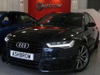 USED 2016 16 AUDI A6 AVANT 2.0 TDI ULTRA BLACK EDITION 5d 190 AUTO S/S UPGRADE HEATED FRONT SEATS, UPGRADE 19 INCH 10 SPOKE ALLOY WHEELS, UPGRADE LIGHTING PACK, UPGRADE ELECTRIC FOLDING HEATED DOOR MIRRORS, SAT NAV, FULL BLACK LEATHER, BOSE SOUND SYSTEM, DAB RADIO, BLUETOOTH PHONE & MUSIC STREAMING, AUDI MUSIC INTERFACE FOR IPOD / USB DEVICES (AMI), FRONT & REAR PARKING SENSORS WITH DISPLAY, LED HEADLIGHTS, PRIVACY GLASS, ELECTRIC TAILGATE, CRUISE CONTROL, BLACK ROOF RAILS, LIGHT & RAIN SENSORS WITH AUTO DIMMING REAR VIEW MIRROR, FULL SERVICE HISTORY, £30 ROAD TAX