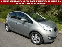 USED 2012 61 KIA VENGA 1.6 3 5d AUTO 123 BHP All retail cars sold are fully prepared and include - Oil & filter service, 6 months warranty, minimum 6 months Mot, 12 months AA breakdown cover, HPI vehicle check assuring you that your new vehicle will have no registered accident claims reported, or any outstanding finance, Government VOSA Mot mileage check. Because we are an AA approved dealer, all our vehicles come with free AA breakdown cover and a free AA history check.. Low rate finance available. Up to 3 years warranty available.