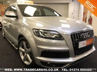 USED 2009 59 AUDI Q7 3.0 TDI DIESEL QUATTRO S LINE 7 SEATER AUTO UK DELIVERY* RAC APPROVED* FINANCE ARRANGED* PART EX