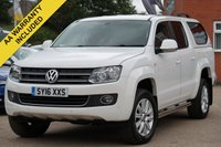 USED 2016 16 VOLKSWAGEN AMAROK 2.0 DC TDI HIGHLINE 4MOTION 1d AUTO 180 BHP £15500 PLUS VAT, SATELLITE NAVIGATION, TOWBAR