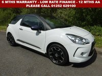USED 2014 64 CITROEN DS3 1.6 DSTYLE PLUS 3d 120 BHP All retail cars sold are fully prepared and include - Oil & filter service, 6 months warranty, minimum 6 months Mot, 12 months AA breakdown cover, HPI vehicle check assuring you that your new vehicle will have no registered accident claims reported, or any outstanding finance, Government VOSA Mot mileage check. Because we are an AA approved dealer, all our vehicles come with free AA breakdown cover and a free AA history check.. Low rate finance available. Up to 3 years warranty available.