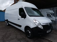 2015 VAUXHALL MOVANO R3500 L4 H3 XLWB High roof 125 *4.3 METRE LOAD LENGTH* £9495.00