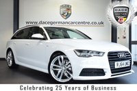 """USED 2015 15 AUDI A6 AVANT 2.0 AVANT TDI ULTRA BLACK EDITION 5DR AUTO 188 BHP full audi service history *NO ADMIN FEES* FINISHED IN STUNNING IBIS WHITE WITH HALF BLACK LEATHER INTERIOR + FULL AUDI SERVICE HISTORY + SATELLITE NAVIGATION + BLUETOOTH + DAB RADIO + BOSE SURROUND SOUND + CRUISE CONTROL + HEATED MIRRORS + PARKING SENSORS + 20"""" ALLOY WHEELS"""