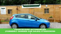 USED 2010 10 FORD FIESTA 1.4 ZETEC 16V 5d 96 BHP Very clean and tidy low mileage example, finished in bright electric vision blue that is by far the best colour, 5 Door Zetec model, comes with 2 keys, F.S.H. air con, blue-tooth, Alloy wheels, Multimedia, The last owner had this car 6years and cherished her. Combined MPG of 49.6 and £79.75 to tax (6 months) Lovely car and possibly our fastest selling car currently !