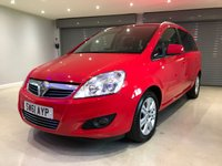 USED 2012 61 VAUXHALL ZAFIRA 1.7 DESIGN CDTI ECOFLEX 5d 108 BHP PARKING SENSORS + BLUETOOTH + CRUISE CONTROL