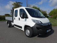 USED 2018 18 CITROEN RELAY 35 L3  CREWCAB DROPSIDE EURO 6 2.0 HDI 160 BHP Top Of Range Enterprise Model With Air Con & 160 BHP Engine!