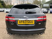 """USED 2013 63 JAGUAR XF 3.0 D V6 S PORTFOLIO SPORTBRAKE 5d AUTO 275 BHP 20"""" ALLOYS, SAT NAV, FULL LEATHER, HEATED SEATS, MERIDIAN SOUND SYSTEM, BLUETOOTH, CRUISE CONTROL, CLIMATE CONTROL, AIR CONDITIONING, REVERSE CAMERA, PARKING SENSORS, 3 SERVICE STAMPS, SPARE KEY"""