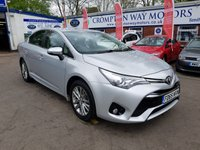 USED 2015 65 TOYOTA AVENSIS 2.0 D-4D BUSINESS EDITION 4d 141 BHP 0%  FINANCE AVAILABLE ON THIS CAR PLEASE CALL 01204 393 181
