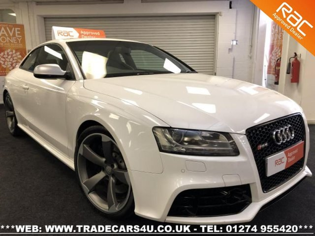 2010 60 AUDI RS5 4.2 V8 FSI S TRONIC QUATTRO COUPE IN IBIS WHITE