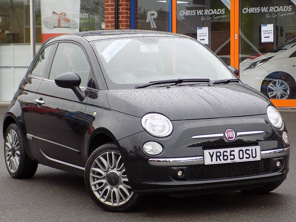 USED 2015 65 FIAT 500 1.2 Lounge 3dr ** Pan Roof + Bluetooth **
