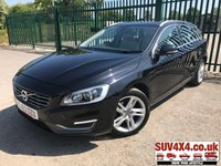 USED 2013 63 VOLVO V60 1.6 D2 SE LUX 5d 113 BHP LEATHER CRUISE PDC FSH STUNNING BLACK MET WITH CREAM LEATHER TRIM. ELECTRIC MEMORY SEATS. CRUISE CONTROL. 17 INCH ALLOYS. COLOUR CODED TRIMS. BLUETOOTH PREP. DUAL CLIMATE CONTROL. ELECTRIC TAILGATE. TRIP COMPUTER. MEDIA CONNECTIVITY. 6 SPEED MANUAL. MFSW. MOT 01/20. ONE PREV OWNER. FULL SERVICE HISTORY. SUV & 4X4 CAR CENTRE LS23 7FR. TEL 01937 849492 OPTION 2