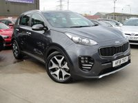 USED 2018 18 KIA SPORTAGE 1.7 CRDI GT-LINE DCT ISG 5d AUTO 139 BHP ANY PART EXCHANGE WELCOME, COUNTRY WIDE DELIVERY ARRANGED, HUGE SPEC