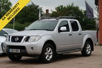 USED 2013 13 NISSAN NAVARA 2.5 DCI TEKNA 4X4 SHR DCB 1d 188 BHP NO VAT TO PAY VAT INCLUDED, SATELLITE NAVIGATION, REAR CAMERA