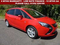 USED 2015 65 VAUXHALL ZAFIRA TOURER 1.4 SRI 5d AUTO 138 BHP All retail cars sold are fully prepared and include - Oil & filter service, 6 months warranty, minimum 6 months Mot, 12 months AA breakdown cover, HPI vehicle check assuring you that your new vehicle will have no registered accident claims reported, or any outstanding finance, Government VOSA Mot mileage check. Because we are an AA approved dealer, all our vehicles come with free AA breakdown cover and a free AA history check.. Low rate finance available. Up to 3 years warranty available.