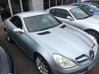 USED 2004 54 MERCEDES-BENZ SLK 1.8 SLK200 KOMPRESSOR 2d 161 BHP RARE MANUAL