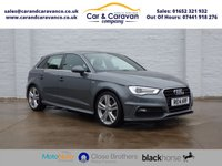 USED 2014 14 AUDI A3 2.0 SPORTBACK TDI S LINE 5d 182 BHP All Dealer History Bluetooth Buy Now, Pay Later Finance!