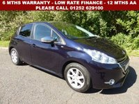 USED 2015 15 PEUGEOT 208 1.2 STYLE 5d 82 BHP All retail cars sold are fully prepared and include - Oil & filter service, 6 months warranty, minimum 6 months Mot, 12 months AA breakdown cover, HPI vehicle check assuring you that your new vehicle will have no registered accident claims reported, or any outstanding finance, Government VOSA Mot mileage check. Because we are an AA approved dealer, all our vehicles come with free AA breakdown cover and a free AA history check.. Low rate finance available. Up to 3 years warranty available.