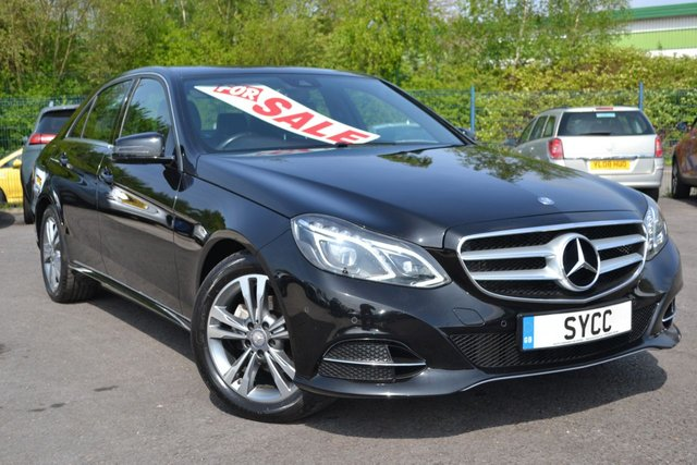 USED 2015 15 MERCEDES-BENZ E CLASS 2.1 E220 BLUETEC SE 4d AUTO 174 BHP ~ COMMAND NAV ~ HEATED LEATHER COMMAND APS SAT NAV ~ HEATHED BLACK LEATHER ~ £30 TAX