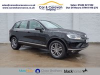 USED 2017 17 VOLKSWAGEN TOUAREG 3.0 V6 SE TDI BLUEMOTION TECHNOLOGY 5d AUTO 262 BHP One Owner Full Service History Buy Now, Pay Later Finance!