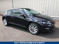USED 2011 61 VOLKSWAGEN SCIROCCO 2.0 GT TDI BLUEMOTION TECHNOLOGY 140 BHP FULL SERVICE HISTORY, EXCELLENT CONDITION, £30 ROAD TAX!
