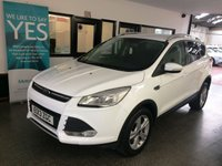 USED 2013 13 FORD KUGA 2.0 ZETEC TDCI 5d 138 BHP Three owners, full service history- 5 stamps, September 2019 Mot, Finished in Frozen White with Black cloth seats. 4x4 Model.
