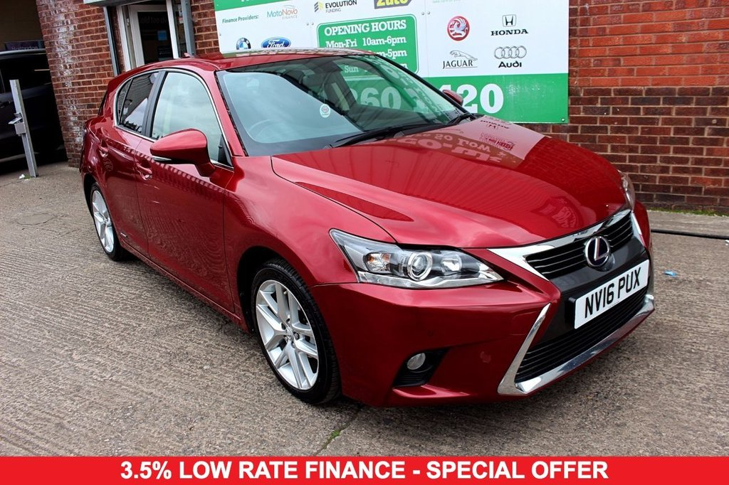 2016 16 LEXUS CT 1.8 200H ADVANCE 5d AUTO 134 BHP