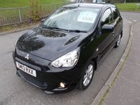 USED 2013 13 MITSUBISHI MIRAGE 1.2 3 5d 79 BHP ++LOW MILEAGE CAR COMES WITH A FREE 12 MONTHS AA BREAKDOWN COVER++