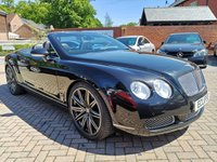 USED 2007 07 BENTLEY CONTINENTAL 6.0 GTC 2d 550 BHP FSH+LEATHER+ALLOYS+CRUISE