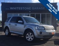 USED 2011 11 LAND ROVER FREELANDER 2.2 SD4 GS 5d AUTO 190 BHP LOW MILES, DIESEL AUTO, FULL SIZE ALLOY SPARE WHEEL. BLUETOOTH, CRUISE CONTROL, RETRACTABLE MIRRORS, PARKING SENSORS, FSH