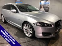 """USED 2014 14 JAGUAR XF 3.0 D V6 S PORTFOLIO SPORTBRAKE 5DOOR AUTO 275 BHP DAB Radio     :     Sat Nav     :     USB & AUX Sockets     :     Cruise Control     :     Bluetooth        Full Black Leather Upholstery : Heated / Cooling Front Seats : Electric Front Seats    Hands Free Voice Control     :     Automatic Tailgate     :     Front & Rear Parking Sensors        Rear View Parking Camera : 20"""" Alloy Wheels : Full Jaguar Service History"""
