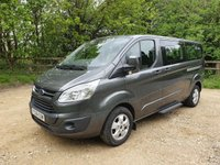 2016 FORD TOURNEO CUSTOM 2.0 310 TITANIUM TDCI 5d 9 SEATS 130BHP SAT NAV AIR CON £13750.00