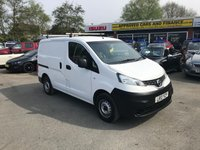 USED 2013 13 NISSAN NV200 1.5 SE DCI 1d 89 BHP WHITE 70000 MILES FULL SERVICE HISTORY GREAT CONDITION APPROVED CARS AND FINANCE ARE PLEASED TO OFFER OUR NISSAN NV200 1.5 SE DCI 1d 89 BHP WHITE. GREAT SPEC ON THIS VAN INCLUDING ABS,POWER STEERING,CD PLAYER,CLIMATE CONTROL,PHONE,BLUETOOTH AND A FULL SERVICE HISTORY AT 17K,23K,48K,58K MILES. THE VAN IS VAT FREE AND PRICED TO SELL QUICKLY. PLEASE CALL 01622-871-555 TO BOOK YOUR TEST DRIVE TODAY