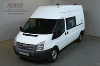 USED 2013 13 FORD TRANSIT 2.2 350 124 BHP LWB H/ROOF L3 H3 8 SEATER COMBI CREW MESS VAN FITTED WORKING TOILET & CAMERA