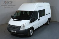 USED 2014 14 FORD TRANSIT 2.2 350 124 BHP LWB HIGH ROOF 6 SEAT COMBI CREW MESS VAN 6 SEAT COMBI CREW MESS VAN, ONE OWNER, SERVICE HISTORY