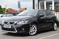 2014 LEXUS CT 1.8 200H ADVANCE 5d 134 BHP £8995.00