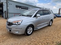 2017 SSANGYONG RODIUS TURISMO 2.2 EX 5d AUTO 176 BHP £10490.00