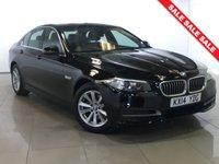 USED 2014 14 BMW 5 SERIES 2.0 520D SE AUTO 4d 181 BHP Sat Nav/Black Leather