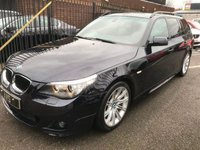 USED 2008 58 BMW 5 SERIES 2.0 520D M SPORT TOURING 5d AUTO 175 BHP SAT NAV LEATHER